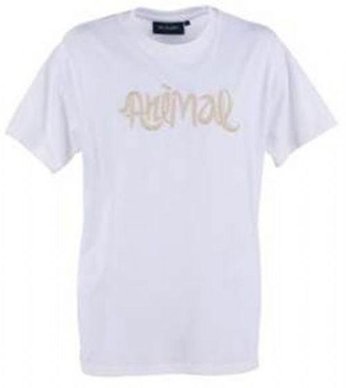 ANIMAL MENS T SHIRT.NEW DELUXE WHITE SHORT SLEEVED COTTON SURF TEE TOP 6W 01 T21